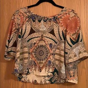 Crop floral top - size medium